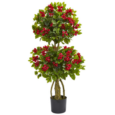4' Double Bougainvillea Artificial Topiary Tree