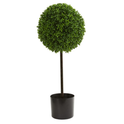 2.5' Boxwood Ball Artificial Topiary Tree UV Resistant (Indoor/Outdoor)