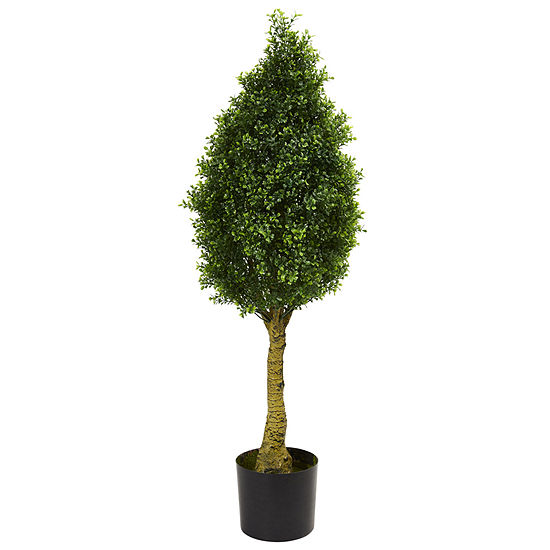 Boxwood Tower Artificial Tree; UV Resistant (Indoor/Outdoor)