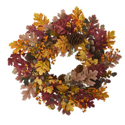 """24"""" Oak Leaf; Acorn & Pine Wreath"""