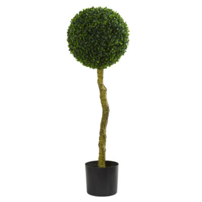 3.5' Boxwood Artificial Topiary Tree; UV Resistant (Indoor/Outdoor)