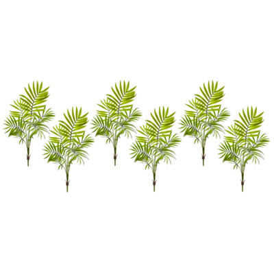 Mini Areca Palm Artificial Bush; Set of 6