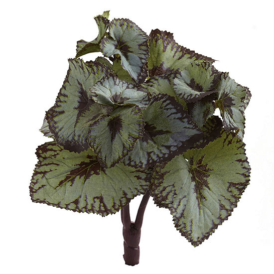Rex Begonia Artificial Bush Stems; Set of 12