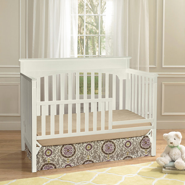 Suite Bebe Laural 4-in-1 Convertible Crib - White