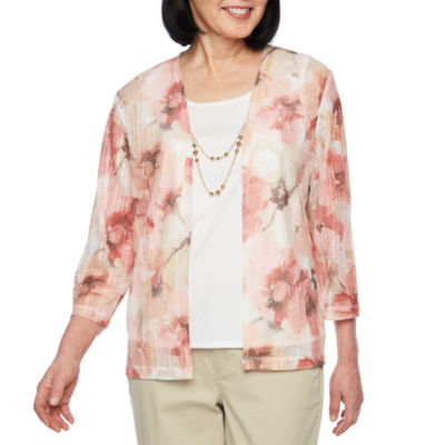Alfred Dunner La Dolce Vita 3/4 Sleeve Layered Top