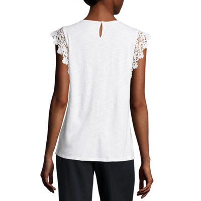 Liz Claiborne Lace Trim Tank Top