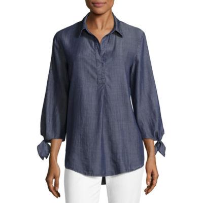 Liz Claiborne Tie Sleeve Tunic Top