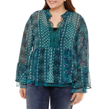 Arizona Woven Top- Juniors Plus