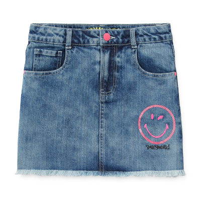 Smiley World Little & Big Girls Denim Skirt