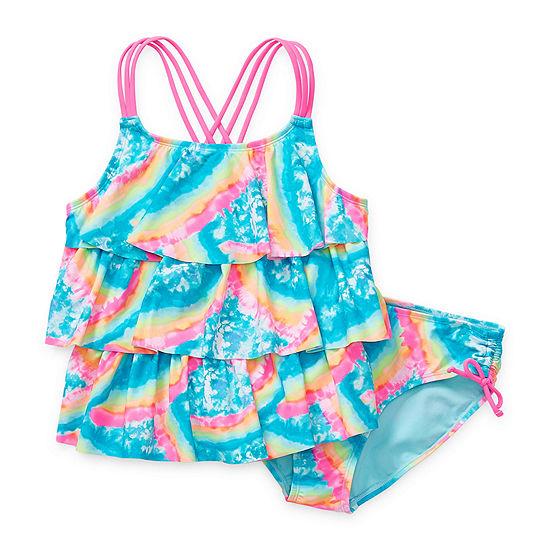 Arizona Girls Tie Dye Tankini Set