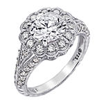 Womens 3 CT. T.W. Cubic Zirconia Sterling Silver Flower Cocktail Ring