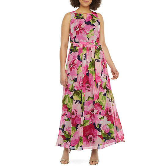DR Collection Sleeveless Floral Maxi Dress
