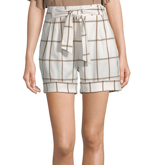 Worthington Womens Belted Short - Tall