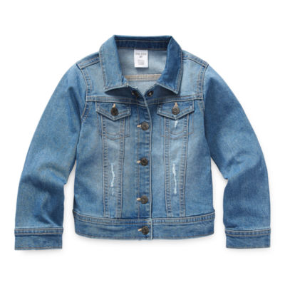 Okie Dokie Toddler Girls Denim Jacket