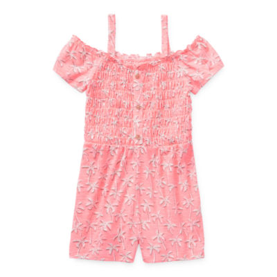 Arizona Little & Big Girls Short Sleeve Romper