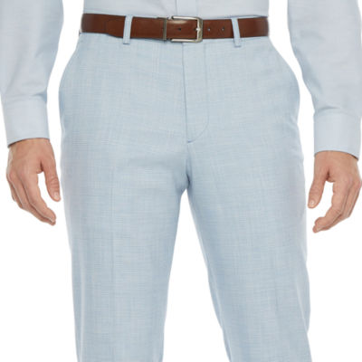 JF J.Ferrar Ultra Mens Plaid Stretch Slim Fit Suit Pants