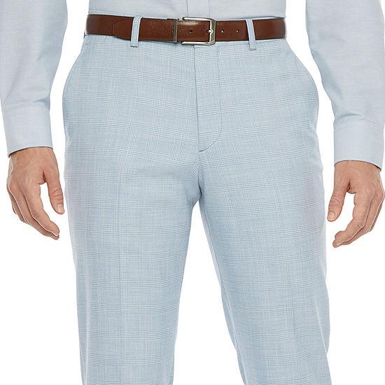 JF J.Ferrar Ultra Mens Plaid Stretch Slim Fit Suit Pants