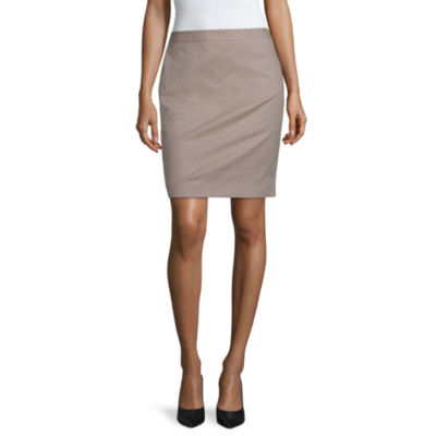 Liz Claiborne Womens Mid Rise Midi Pencil Skirt