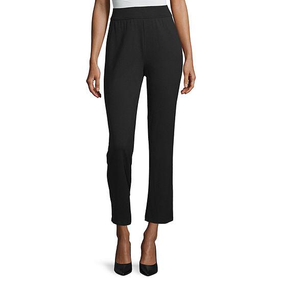 Liz Claiborne Studio Womens Slim Pull-On Pants