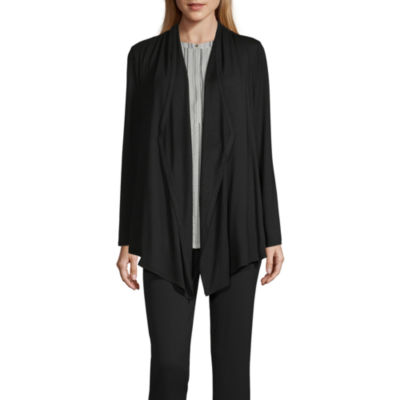 Liz Claiborne Studio Womens Long Sleeve Cardigan