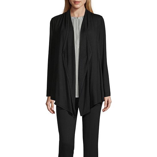 Liz Claiborne Studio Womens Long Sleeve Cardigan