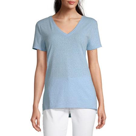 a.n.a-Womens Short Sleeve T-Shirt, X-small , Blue