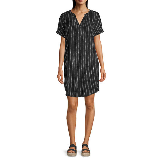 a.n.a Womens Short Sleeve Sheath Dress