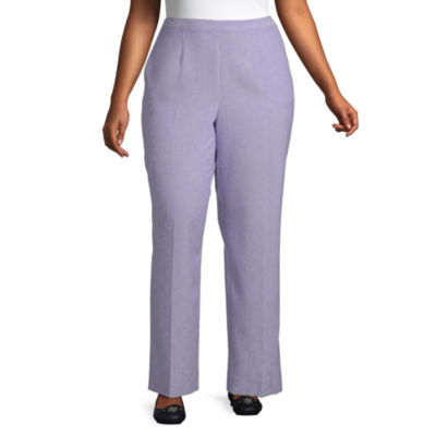 Alfred Dunner-Plus Nantucket Womens Straight Flat Front Pant