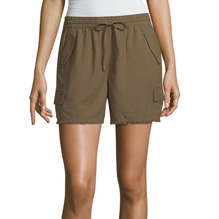 a.n.a Womens Pull-On Short, X-small , Green