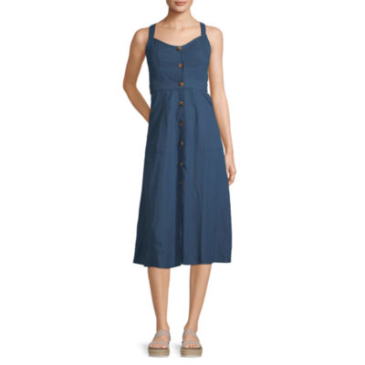 ana Button Front Convertible Strap Dress