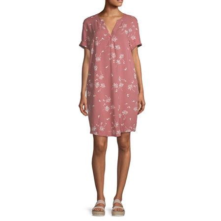 a.n.a Womens Short Sleeve Sheath Dress, X-small , Pink