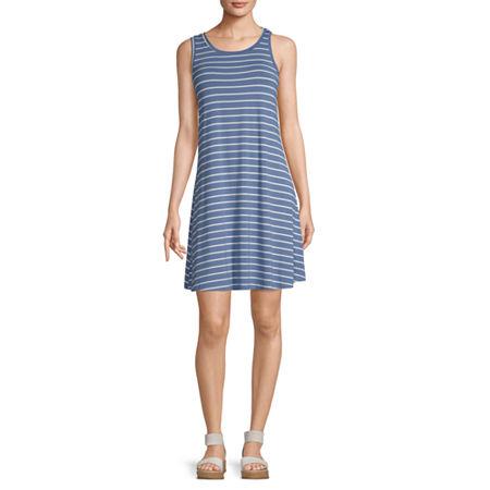 a.n.a Sleeveless Shift Dress, Small , Blue