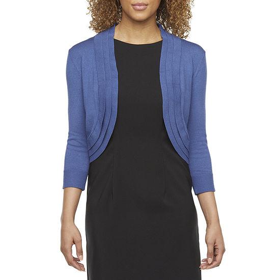 Ronni Nicole Womens 3/4 Sleeve Shrug