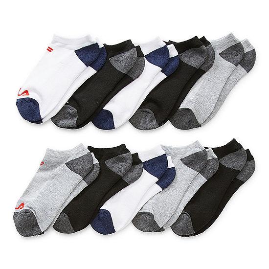 Fila Big Boys 10 Pair No Show Socks