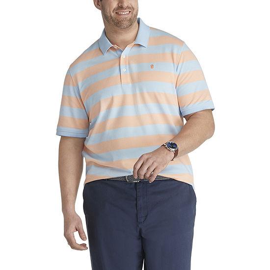 IZOD Big and Tall Mens Cooling Short Sleeve Polo Shirt