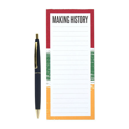 Making History Notepad with Pen, One Size , White