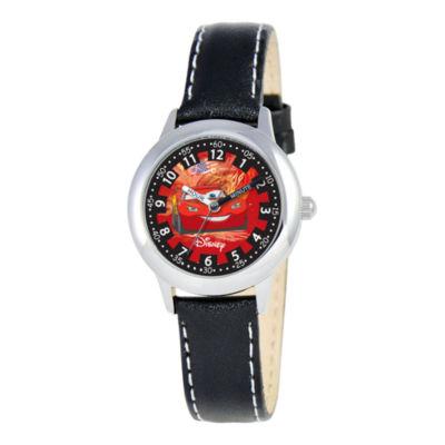 Disney Cars Kids Time Teacher Leather Strap Watch