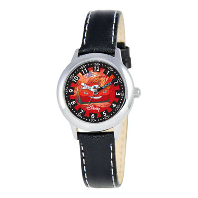 Disney Cars Kids Time Teacher Leather Strap Watch
