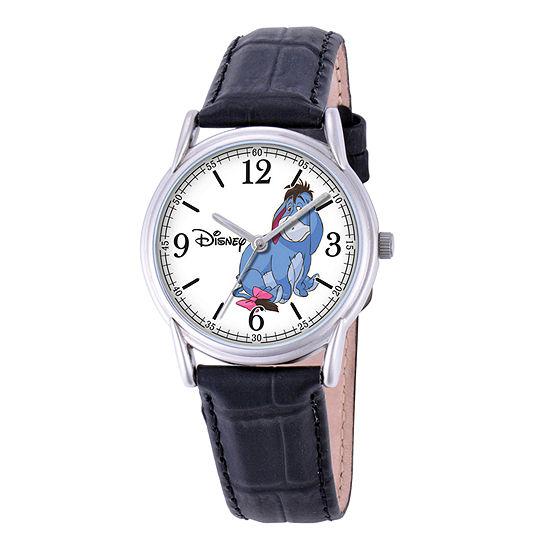 Disney Cardiff Womens Eeyore Brown Leather Watch