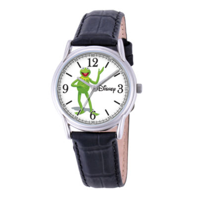 Disney Cardiff Mens Kermit the Frog Brown Leather Watch