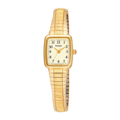 Pulsar® Mens Gold-Tone Stainless Steel Expansion Bracelet Watch PPH520