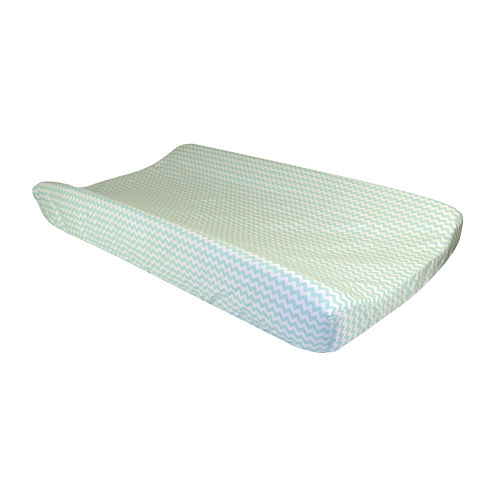 Trend Lab® Mint Green and White Changing Pad Cover