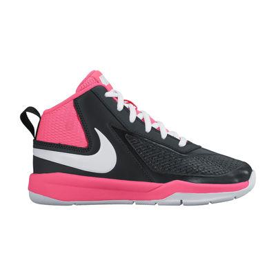 Nike® Team Hustle D Girls Basketball Shoes - Little Kids
