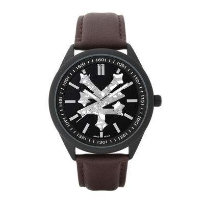 Zoo York® Mens Brown Strap Watch