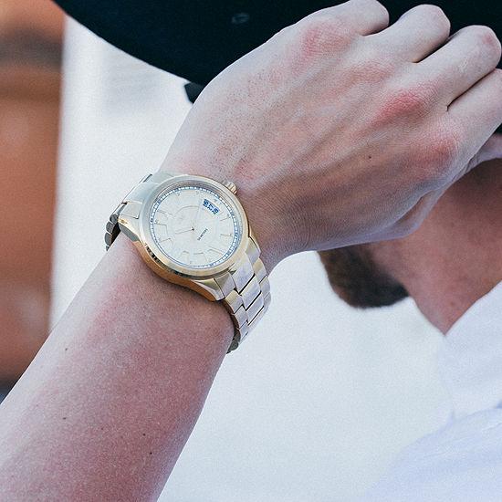 JBW Bond Mens Diamond-Accent Gold-Tone Stainless Steel Watch J6311A
