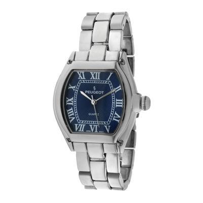 Peugeot® Womens Blue Silver-Tone Bracelet Watch