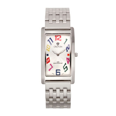 Croton Mens Rectangular Rainbow Numbers Watch