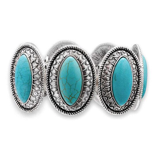 Mixit Aqua Stone Stretch Bracelet