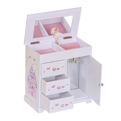 Mele & Co. Adalyn Musical Ballerina Wooden Jewelry Box