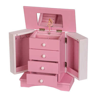 Mele & Co. Elise Musical Ballerina Wooden Jewelry Box